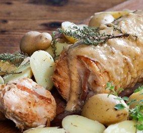 Μια φανταστική συνταγή από την Αργυρώ Μπαρμπαρίγου - Ρολό κοτόπουλο με υπέροχη σάλτσα μουστάρδας (βίντεο) - Κυρίως Φωτογραφία - Gallery - Video