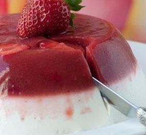 Δροσερό & ελαφρύ: Γλυκό γιαούρτι με ζελέ φράουλας από τον Στέλιο Παρλιάρο - Κυρίως Φωτογραφία - Gallery - Video