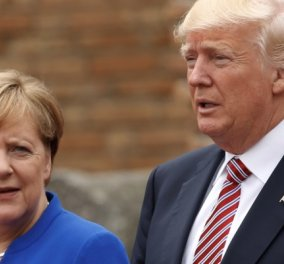 O Tραμπ στην Μέρκελ: ''Είσαι ηλίθια'' - Οι λεκτικές επιθέσεις του σε γυναίκες αρχηγούς και το παραλήρημα - Κυρίως Φωτογραφία - Gallery - Video