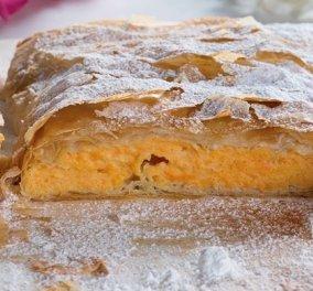 Γλυκιά καροτομπουγάτσα: Μια μοναδική συνταγή από τη Ντίνα Νικολάου - Κυρίως Φωτογραφία - Gallery - Video