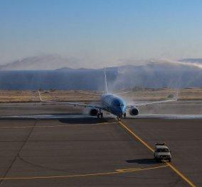 Με ασπίδες νερού, Κρητική λύρα & κεράσματα, υποδέχτηκε η Κρήτη τους πρώτους τουρίστες στα αεροδρόμια - Κυρίως Φωτογραφία - Gallery - Video