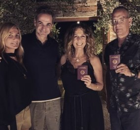 Ο Κυριάκος αγκαλιά με την Μαρέβα, τον Τομ Χανκς & την Ρίτα Γουίλσον - Proud to be Greek (Φωτό)  - Κυρίως Φωτογραφία - Gallery - Video