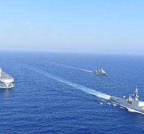 Τα πρώτα πλάνα από την κοινή ναυτική άσκηση Ελλάδας - Γαλλία στην Ανατολική Μεσόγειο (φωτό- βίντεο) - Κυρίως Φωτογραφία - Gallery - Video