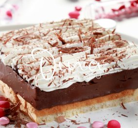 Υπέροχο εκμέκ σοκολατόπιτα ψυγείου από τη Ντίνα Νικολάου  - Κυρίως Φωτογραφία - Gallery - Video