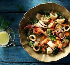 Φρικασέ θαλασσινών από την Αργυρώ Μπαρμπαρίγου - Μια νηστίσιμη & άκρως καλοκαιρινή συνταγή - Κυρίως Φωτογραφία - Gallery - Video