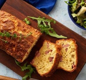 Λαχταριστή συνταγή από την Αργυρώ Μπαρμπαρίγου: Αλμυρό κέικ με τυρί & ζαμπόν - Κυρίως Φωτογραφία - Gallery - Video