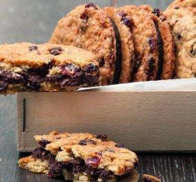 Λαχταριστά cookies με κράνμπερι γεμιστά με σοκολάτα από τον Στέλιο Παρλιάρο - Κυρίως Φωτογραφία - Gallery - Video