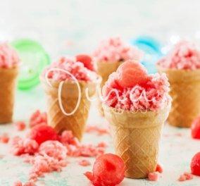 Γρανίτα καρπούζι - Το πιο δροσερό γλυκό του καλοκαιριού από τη Ντίνα Νικολάου - Κυρίως Φωτογραφία - Gallery - Video