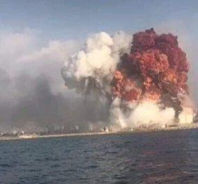 Συνταρακτικές φωτό & βίντεο από την τραγωδία στον Λίβανο: Αλλεπάλληλες φονικές εκρήξεις & ένα μανιτάρι στον ουρανό της Βηρυτού σαν της Χιροσίμα - Κυρίως Φωτογραφία - Gallery - Video