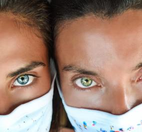 Οι κουμπάρες με τα μάτια που ζαλίζουν: Μαρίνα Βερνίκου – Χριστίνα Μπόμπα φορούν την ωραιότερη μάσκα του καλοκαιριού & μαγεύουν με το βλέμμα - Κυρίως Φωτογραφία - Gallery - Video