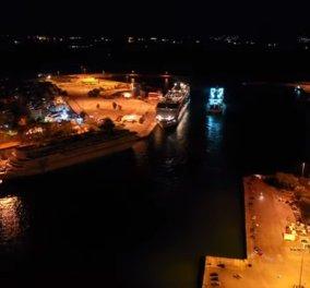 Υπέροχο νυχτερινό drone βίντεο: Ο Πειραιάς το πρώτο λιμάνι της Ελλάδας από ψηλά - Κυρίως Φωτογραφία - Gallery - Video