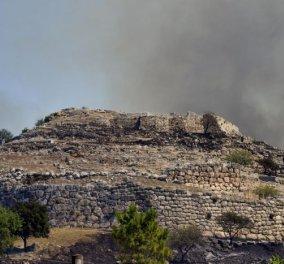 Παγκόσμια θλίψη από τις εικόνες στον αρχαιολογικό χώρο στις Μυκήνες - Η φωτιά μαύρισε τις αρχαίες πέτρες από τον τάφο του Αγαμέμνονα - Κυρίως Φωτογραφία - Gallery - Video