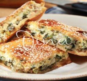 Η Ντίνα Νικολάου προτείνει: Λαχταριστή πίτα κουρού με πράσα & ρόκα  - Κυρίως Φωτογραφία - Gallery - Video