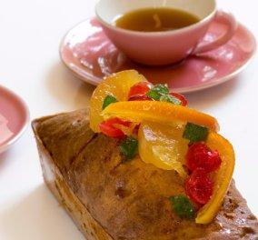 Ένα καταπληκτικό γλυκό από τον Στέλιο Παρλιάρο - Κέικ με ξερά φρούτα, πλούσιο σε αρώματα - Κυρίως Φωτογραφία - Gallery - Video