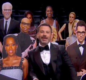 "Emmys 2020: Το πρώτο ""κόκκινο χαλί"" του κορωνοϊού από τα σπίτια... των βραβευμένων- Παρουσιαστές Kimmel- Aniston & πολύ γέλιο - Οι νικητές (φωτό - βίντεο)  - Κυρίως Φωτογραφία - Gallery - Video"