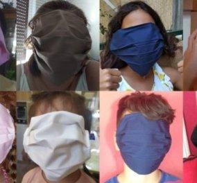 Μάσκες στα σχολεία: Τεράστιες & ακατάλληλες, αφορμή για ατελείωτα τρολαρίσματα στο διαδίκτυο - Την φόρεσε ο Γιώργος Παπαδάκης (φωτό- βίντεο) - Κυρίως Φωτογραφία - Gallery - Video