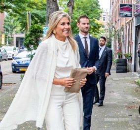 Βασίλισσα Μάξιμα της Ολλανδίας: Με total white look στην πρώτη εμφάνιση μετά το καλοκαίρι στην Ελλάδα (Φωτό)  - Κυρίως Φωτογραφία - Gallery - Video