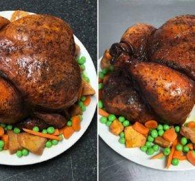 Ο τρελός pastry chef μετατρέπει το κοτόπουλο, τις πατάτες & τα μήλα σε cake  - Kόβει ακόμη και το ... ''χέρι του'' (φωτο) - Κυρίως Φωτογραφία - Gallery - Video