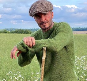 David Beckham - Ο πιο γοητευτικός αγρότης: Φόρεσε την τραγιάσκα του & μάζεψε τη σοδειά του (φωτό) - Κυρίως Φωτογραφία - Gallery - Video
