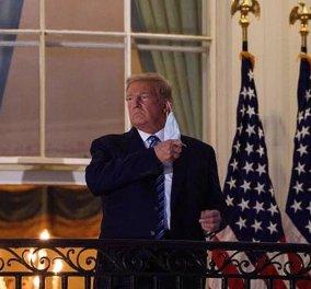Ο Ντόναλντ Τραμπ στον… χαβά του: Μπήκε στον Λευκό Οίκο, έβγαλε τη μάσκα & χαιρέτησε στρατιωτικά – Η ανακοίνωση του γιατρού του (Φωτό & Βίντεο)  - Κυρίως Φωτογραφία - Gallery - Video