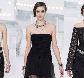 Το fashion show του οίκου Chanel στην Εβδομάδα μόδας του Παρισιού: Με αέρα παλιού Hollywood & μοντέλα σαν από ταινία του Γκοντάρ (φωτό- βίντεο) - Κυρίως Φωτογραφία - Gallery - Video