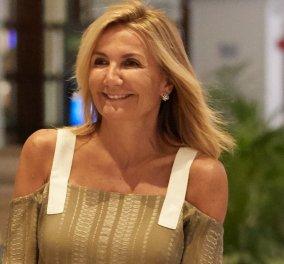 Μαρέβα Μητσοτάκη: Με navy blue παντελόνα με μεγάλη καμπάνα & σοκολά τοπ στο πλευρό του Πρωθυπουργού σε εκδήλωση στη Θεσσαλονίκη (φωτό) - Κυρίως Φωτογραφία - Gallery - Video