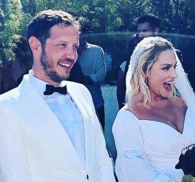 Ελεωνόρα Ζουγανέλη - Σπύρος Δημητρίου: Ο υπέροχος στολισμός του γάμου τους - Νέες φωτό από την τελετή & τα wedding parties - Κυρίως Φωτογραφία - Gallery - Video