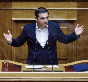 Τσίπρας στην Βουλή: Ο πρωθυπουργός όφειλε να απευθυνθεί με λόγο ενωτικό & να αναλάβει το μερίδιο ευθύνης που του αναλογεί (βίντεο - φωτό) - Κυρίως Φωτογραφία - Gallery - Video