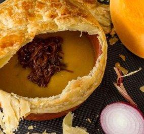 Πεντανόστιμη σούπα κολοκύθας με φύλλο σφολιάτας από τον αγαπημένο μας σεφ Άκη Πετρετζίκη - Κυρίως Φωτογραφία - Gallery - Video