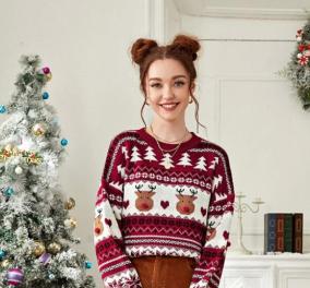 20 Χριστουγεννιάτικα πουλόβερ γιατί προβλέπεται να την βγάλουμε μέσα...Τάρανδοι, Αγιοβασιλάκηδες, δεντράκια, λαμπάκια (φωτό)  - Κυρίως Φωτογραφία - Gallery - Video