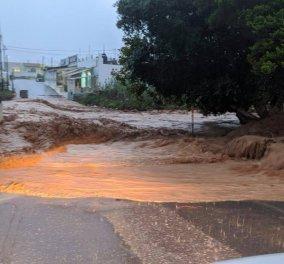 Κρήτη: Συγκλονιστικές εικόνες & βίντεο από τους «ποταμούς νερών» της σφοδρής βροχόπτωσης  - Κυρίως Φωτογραφία - Gallery - Video