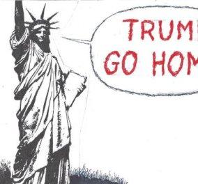 Η απίστευτη γελοιογραφία της ημέρας από τον Κυρ – Trump... go home - Κυρίως Φωτογραφία - Gallery - Video