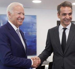 Η Μαρέβα Μητσοτάκη ανέβασε φωτό του Κυριάκου της με τον Biden, αλλά & ο Πρωθυπουργός μία άλλη με το νέο Πλανητάρχη - Κυρίως Φωτογραφία - Gallery - Video