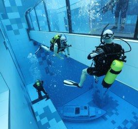 Αυτή είναι η βαθύτερη πισίνα του κόσμου, φτάνει τα 45,5 μέτρα - Περιλαμβάνει υποβρύχια σπήλαια, ερείπια των Μάγια & ναυάγιο (Φωτό & Βίντεο)  - Κυρίως Φωτογραφία - Gallery - Video