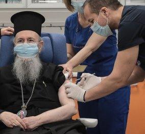 Μητροπολίτης Ναυπάκτου- Ο πρώτος κληρικός που εμβολιάστηκε: Η πανδημία είναι πόλεμος, το εμβόλιο όπλο- Θα παρατείνω τη βιολογική ζωή - Κυρίως Φωτογραφία - Gallery - Video