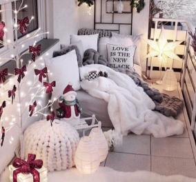 Οι μέρες πλησιάζουν: Kάντε το μπαλκόνι σας να μυρίσει Χριστούγεννα - Iδέες για ευφάνταστη διακόσμηση (φωτό - Κυρίως Φωτογραφία - Gallery - Video