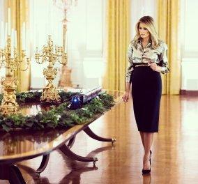 Ο Λευκός Οίκος στολίστηκε με glamour για τελευταία φορά από το εκκεντρικό προεδρικό ζεύγος Ντόναλντ & Μελάνια Τραμπ (Φωτό & Βίντεο) - Κυρίως Φωτογραφία - Gallery - Video