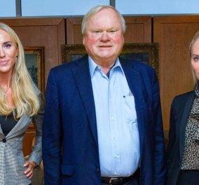 Ο μεγιστάνας της ναυτιλίας John Fredriksen & οι δύο ξανθιές, καλλονές κόρες του: Περιουσία μεγαλύτερη από την βασίλισσα Ελισάβετ (φωτό) - Κυρίως Φωτογραφία - Gallery - Video