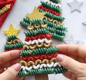 Αργυρώ Μπαρμπαρίγου:  Φτιάξτε χειροποίητα Χριστουγεννιάτικα στολίδια με ζυμαρικά - Απασχολήστε τα παιδιά σας με τον πιο δημιουργικό τρόπο - Κυρίως Φωτογραφία - Gallery - Video