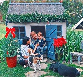 Harry - Meghan: Ιδού η φετινή χριστουγεννιάτικη κάρτα τους- Αγκαλιά με τον Archie που μεγάλωσε πολύ! (φωτό)  - Κυρίως Φωτογραφία - Gallery - Video