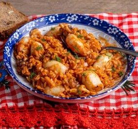 Το δοκιμάσαμε & ξετρελαθήκαμε - Πεντανόστιμα τα κοκκινιστά καλαμαράκια με ρύζι από την Αργυρώ Μπαρμπαρίγου  - Κυρίως Φωτογραφία - Gallery - Video