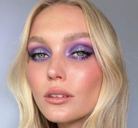 Αυτά είναι τα 7 makeup trends που θα δείτε σε όλες τις stylish γυναίκες το 2021 - Μωβ σκιές, κοραλί χείλια (φωτό) - Κυρίως Φωτογραφία - Gallery - Video