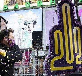 """Στη Νέα Υόρκη """"κατέστρεψαν"""" τον κορωνοϊό: Καλά ξεκουμπίδια 2020 - Το βίντεο από την Times Square - Κυρίως Φωτογραφία - Gallery - Video"""