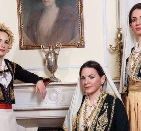 Η Όλγα Κεφαλογιάννη & οι αδελφές της ντυμένες με παραδοσιακές Κρητικές φορεσιές - «Η αγάπη & η στήριξή τους τα μεγαλύτερα εφόδια στη ζωή μου» (φωτό) - Κυρίως Φωτογραφία - Gallery - Video