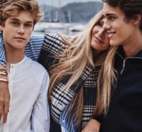 Αν εσείς έχετε δει ωραιότερους γιους!!! - Η Elle Macpherson με του πανύψηλους Φλιν &  Αουρέλιους (Φώτο) - Κυρίως Φωτογραφία - Gallery - Video