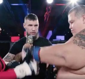 Η Νταρίνα μόλις 62 κιλά έβαλε κάτω σε αγώνα πάλης, τον Γκρίγκορι, ένα θηρίο 240 κιλών - Απίστευτα βίντεο & φωτό  - Κυρίως Φωτογραφία - Gallery - Video