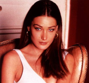 Vintage beauty pics: Η Κάρλα Μπρούνι  υπερκαλλονή σε πόζες το 1980-90 - Η θεά της πασαρέλας  - Κυρίως Φωτογραφία - Gallery - Video