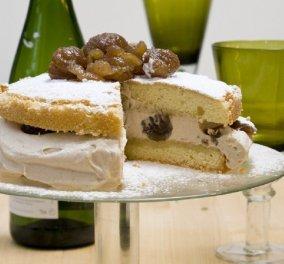 Ο Στέλιος Παρλιάρος μας εντυπωσιάζει: Ονειρική η τούρτα με κρέμα κάστανο - Τέλεια για το γιορτινό τραπέζι  - Κυρίως Φωτογραφία - Gallery - Video