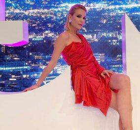 Το μίνι κόκκινο φουστάνι της Βίκυς Καγιά – Η επίσημη εμφάνιση & τα 12ποντα ροζ πέδιλα (Φωτό)  - Κυρίως Φωτογραφία - Gallery - Video