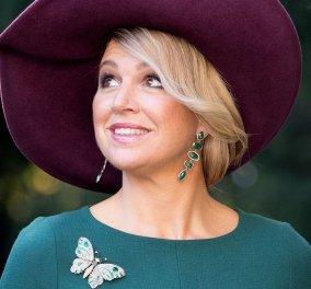 Η βασίλισσα Μάξιμα της Ολλανδίας  με ένα μίνιμαλ κυπαρίσσι πουκάμισο Gucci – Μπριγιάν σκουλαρίκια μακριά, δαχτυλίδια & βραχιόλια (Φωτό)  - Κυρίως Φωτογραφία - Gallery - Video